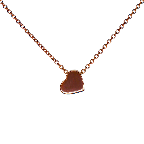 9ct Rose Gold Polished Chunky Heart Pendant