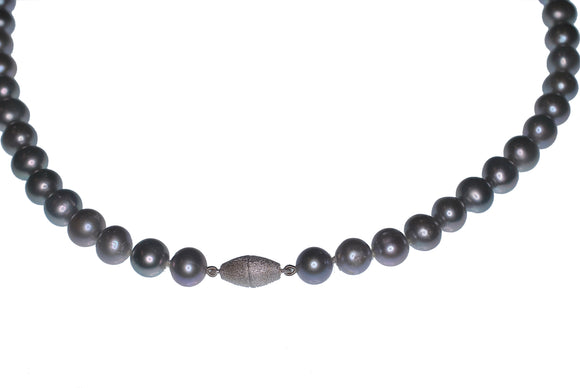 Soft Grey Freshwater Pearl Necklace