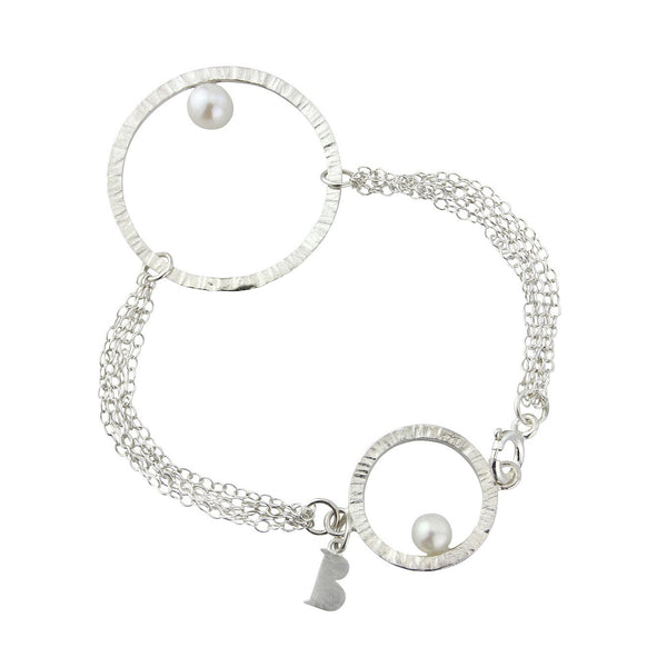 Cylch Silver Bracelet with Pearl