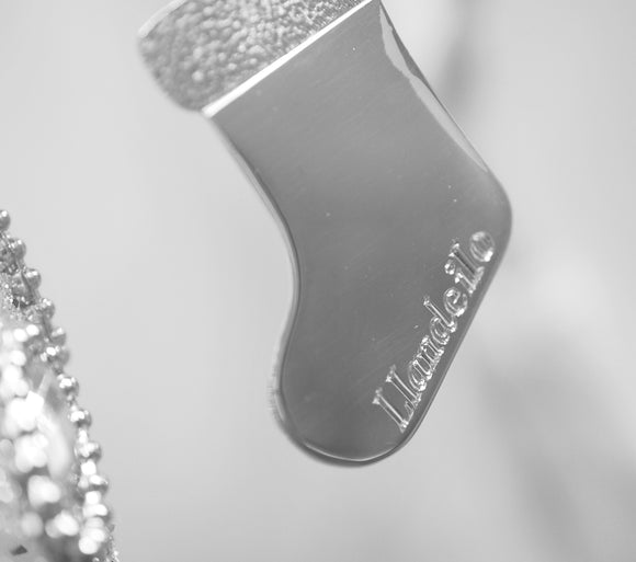 Handmade Limited Edition Silver Stocking Decoration