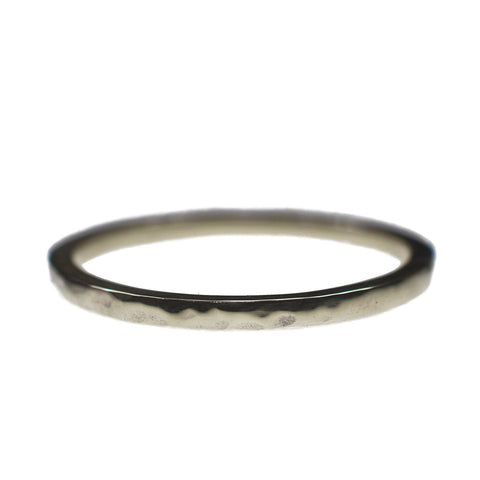 Silver Textured Obsession Ring