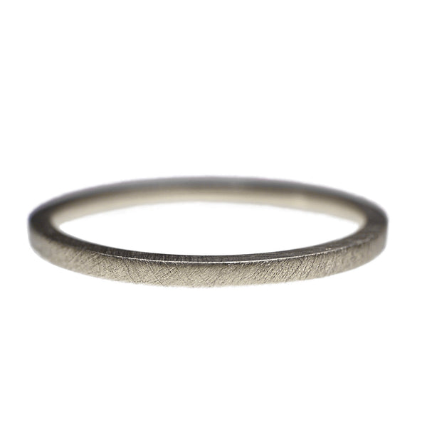 Silver Satin Obsession Ring