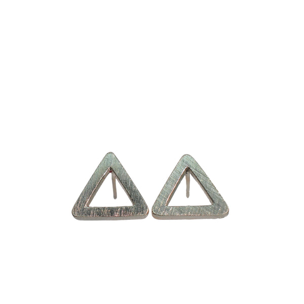 Tri Silver Stud Earrings