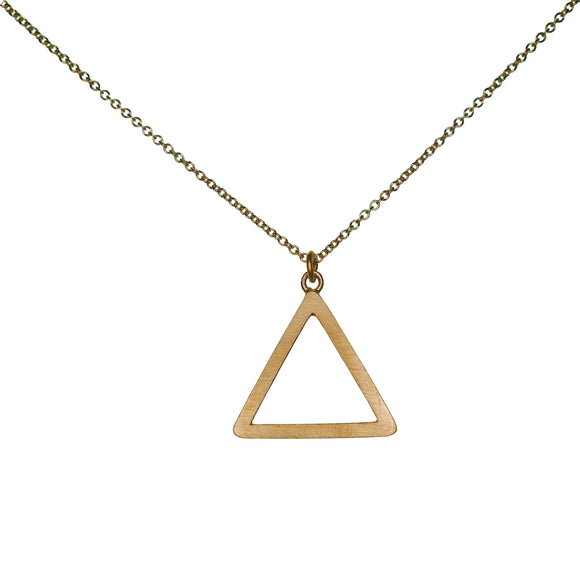 Tri Drop 9ct Yellow Gold Pendant