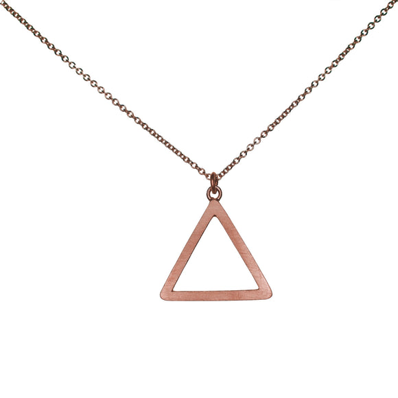 Tri Drop 9ct Rose Gold Pendant