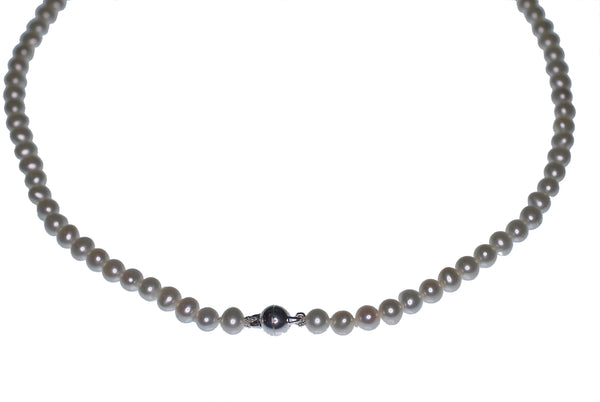 Small White Freshwater Pearl Necklace