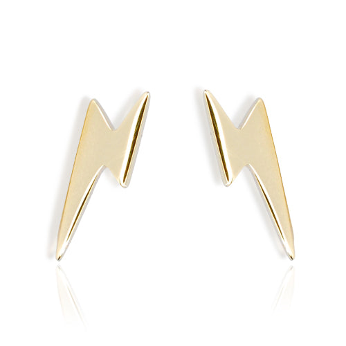 9ct Yellow Gold Lightning Stud Earrings