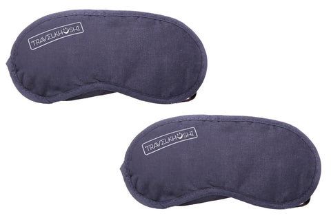 sleeping mask combo two brown front view from  travelkhushi  at Rs 199