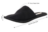 Travelkhushi black Closed Toe Black  Indoor Slippers measurement view