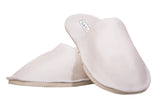 Travelkhushi closed toe white slippers style view