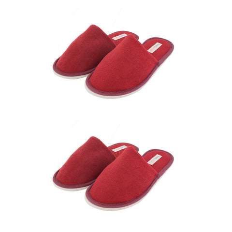 Travelkhushi Maroon Slippers- Pack of 2