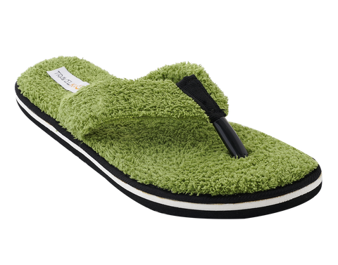 42785447f01107 Travelkhushi Grass Memory Foam Flip Flops   Slippers for Women