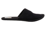 travelkhushi black closed toe slippers side view