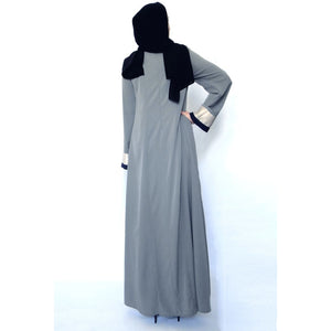 Tulip Abaya Dress – Grey-Dress, Abaya-Lana Lik Clothing