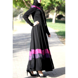 Fuchsia Ribbon Dress-Dress, Abaya-Lana Lik Clothing