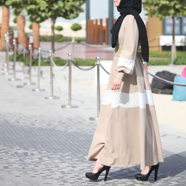 Daisy Abaya Dress – Beige-Dress, Abaya-Lana Lik Clothing