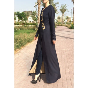 Double-sided Linen Abaya-Abaya-Lana Lik Clothing