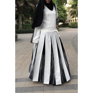 Low Waist Maxi Dress with Folds-Dress, Abaya-Lana Lik Clothing