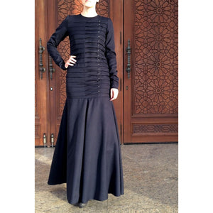 Mermaid Occasion Dress – Dark Navy Blue-Dress-Lana Lik Clothing