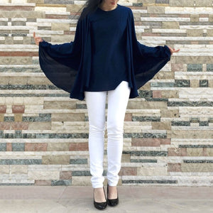 Cape Chiffon Tunic-Top-Lana Lik Clothing