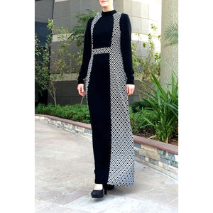 Rombene Maxi Dress-Dress, Abaya-Lana Lik Clothing
