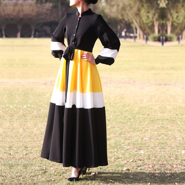 Daisy Dress – Original Yellow/Black-Dress, Abaya-Lana Lik Clothing