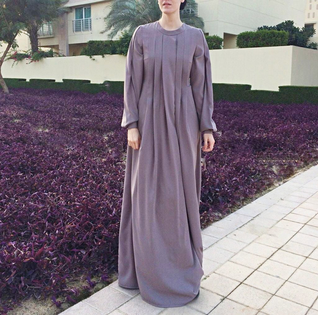 Maxi Dress with Front Folds-Dress-Lana Lik Clothing