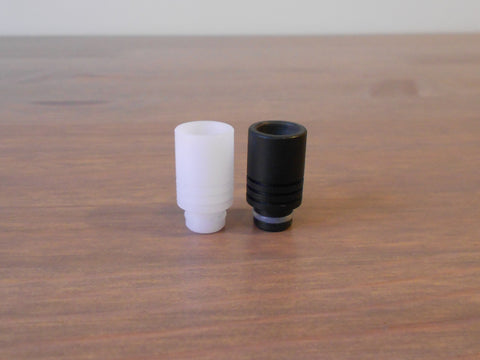 Pair of High Quality Delrin (POM) Wide Bore / Short 510 Drip Tips - Black & White