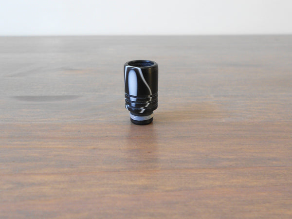 Black/White acrylic 510 vaping drip tip