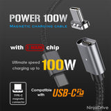 NinjaDrive POWER 100W Magnetic Charging Cable