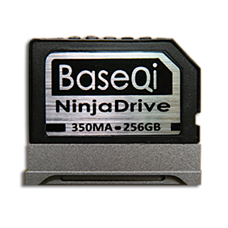 "BaseQi NinjaDrive Aluminum 256GB Storage Expansion Card for Microsoft Surface Book & Surface Book 2 13.5"" / 15"""