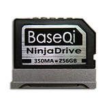 "BaseQi NinjaDrive Aluminum 256GB Storage Expansion Card for Microsoft Surface Book / Surface Book 2 / Surface Book 3 13.5"" &  15"""