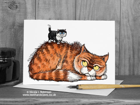 Cat Father's Day Card © Nicola L robinson | Teeth and Claws