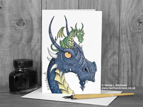 Dragon Dad Card © Nicola L Robinson | Teeth and Claws
