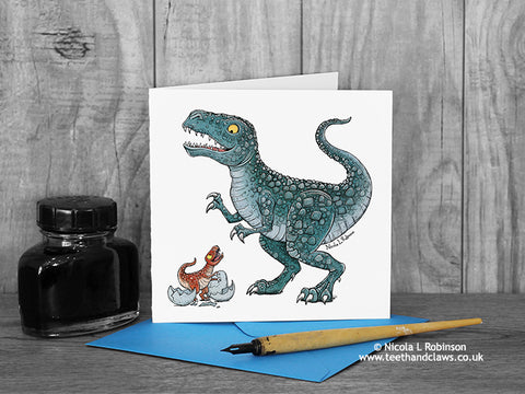 Dinosaur Father's Day Card © Nicola L Robinson | Teeth annd Claws