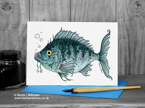 Fish Greeting Card © Nicola L Robinson | Teeth and Claws