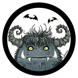 Monster nursery print logo © Nicola L Robinson 2016 www.teethandclaws.co.uk