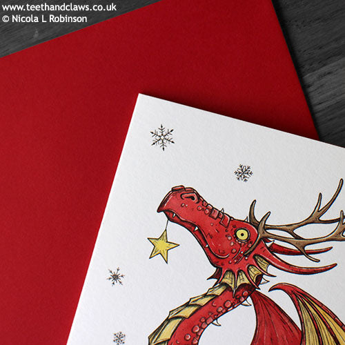Dragon Christmas Cards © Nicola L Robinson | Teeth and Claws