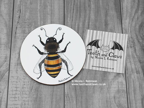 Bee Coaster - Honey bee
