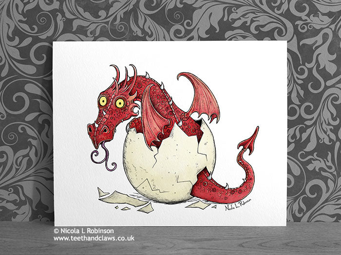 Red Baby Dragon - New Baby Decor