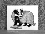 Badger Print Bagder Decor © Nicola L Robinson | Teeth and Claws www.teethandclaws.co.uk