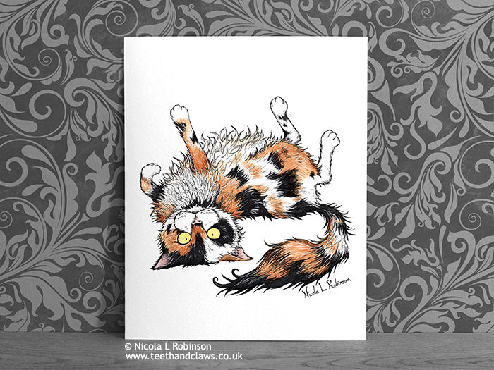 Calico Cat - Art Print - Cat Decor Gift © Nicola L Robinson | Teeth and Claws www.teethandclaws.co.uk
