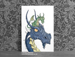 Dragon Nursery Art Print - Daddy Dragon © Nicola L Robinson | Teeth and Claws www.teethandclaws.co.uk