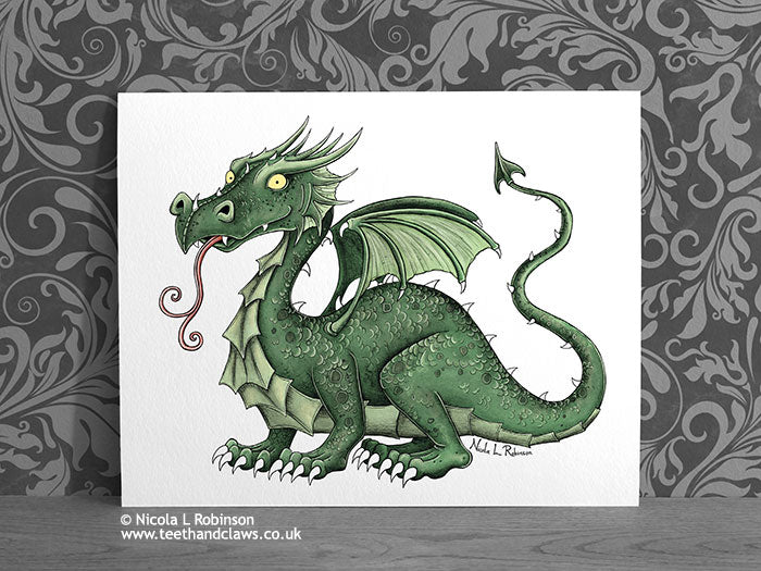 Green Dragon Nursery Art Decor © Nicola L Robinson | Teeth and Claws www.teethadnclaws.co.uk