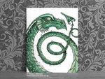 Green Serpent Dragon Art Print © Nicola L Robinson | Teeth and Claws www.teethandclaws.co.uk