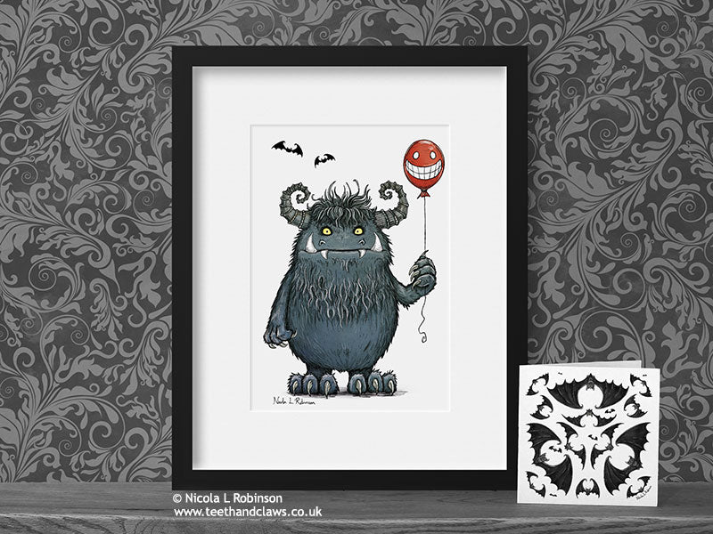 Monster Nursery Art Print © Nicola L Robinson | Teeth and Claws www.teethandclaws.co.uk