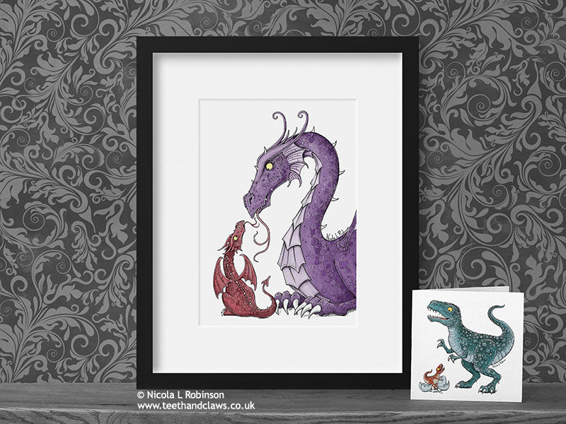 Dragon Nursery Art Print - Mother Dragon © Nicola L Robinson | Teeth and Claws www.teethandclaws.co.uk