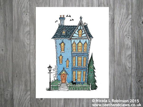 New Home Print - Victorian House