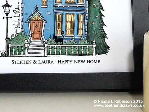 Personalised New Home Print - Victorian House