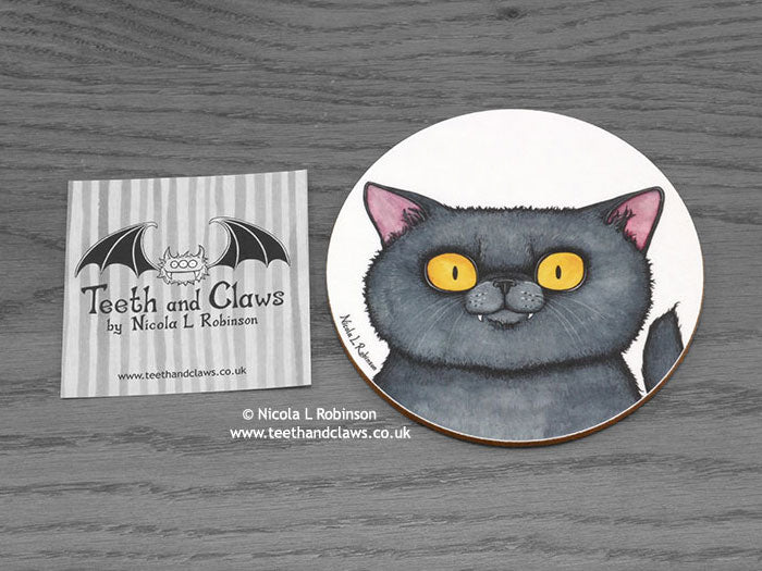 Cat Coaster - British Shorthair Cat Portrait
